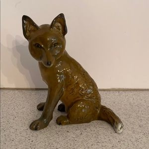 Porcelain fox statue figurine Rosenthal Germany